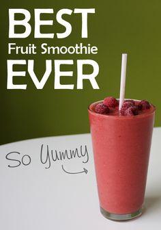 {Best Fruit Smoothie EVER}