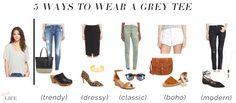 5 ways to wear... a grey tee!