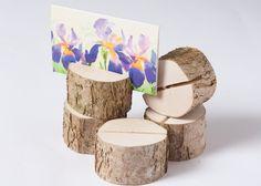 20 Tischkartenhalter aus Holz von DINDINTOYS auf DaWanda.com