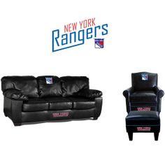 New York Rangers Leather Furniture Set