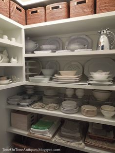 Love this organized butler's pantry - tour this stunning house of Tone on Tone eclecticallyvintage.com