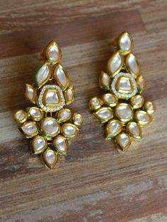 Traditional Long Kundan Earings – Sweta Sutariya