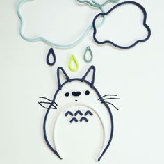 Mot en laine, mot en tricotin, nuage en laine, nuage en tricotin, Totoro, Totoro en tricotin, prénom en laine, prénom en tricotin, Charlie & June