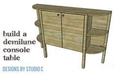 DIY Furniture Plans to Build a Demilune Console Table - Copy