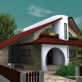Casa cu etaj 10   Proiecte de case personalizate   Arhitect Gabriel Georgescu & Echipa Architectural House Plans, Kerala House Design, Kerala Houses, Construction, Future, Outdoor Decor, Home Decor, Houses, Trendy Tree