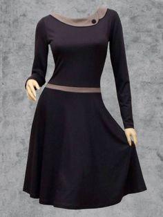 Herbst Cheap Dresses, Day Dresses, Dresses Online, Spring Dresses Casual, Plus Size Casual, Colorblock Dress, Short Sleeve Dresses, Long Sleeve, Elegant