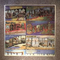 US Postcards Coaster Ceramic Tile States greetings from wish you were here - #3