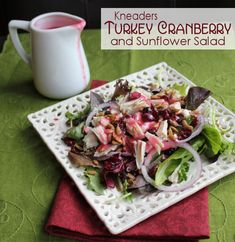 Turkey Cranberry and Sunflower Salad from Jamie Cooks It Up!