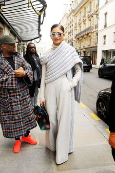 "soph-okonedo: "" Zendaya seen leaving her hotel in Paris "" ."