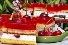 Prajitura cu cirese - Culinar.ro My Favorite Food, Favorite Recipes, My Favorite Things, Romanian Desserts, Summer Cakes, Sweet Tooth, Sweet Treats, Cheesecake, Food And Drink