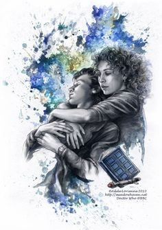 I'm not usually one for fan art . . . but . . . The Doctor and River Song