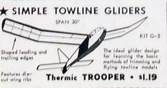 Vintage Thermic Trooper Jasco Ot Tow Line Glider Model Airplane Plan + Patterns
