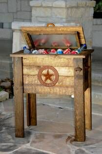 Great So Cool For The Patio! Rustic Cooler /