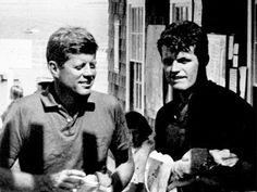 Jack (JFK) and Ted Kennedy in 1960