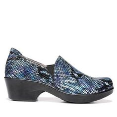 Naturalizer @work Florence Leather Exotic-Print Side-Zip Shoe - Black Cheetah