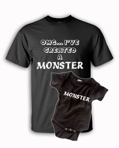 8ebfe0fb8 Items similar to OMG... I've Created A Monster Matching Shirt Set | Baby  Shower | New Baby | First Mother's Day | First Father's Day | First  Christmas on ...