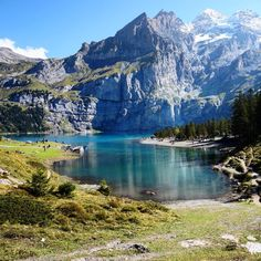 Oeschinensee, Kandersteg, Switzerland. Can't get enough of this beautiful place. We are definitely going back there again!