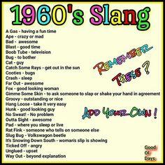 English Slang Words I still use half of these!