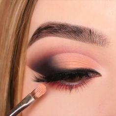 Eye Makeup Steps, Eye Makeup Art, Smokey Eye Makeup, Beauty Makeup, Eyeshadow Looks, Eyeshadow Makeup, Makeup Cosmetics, Drugstore Makeup, Rainbow Eye Makeup