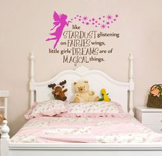 Items Similar To Fairy Phrase Nursery Bedroom Wall Decal Fairies And Stardust Removable Vinyl On Etsy