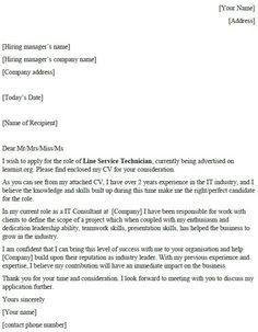 Civil Servant Cover Letter Example | Job | Cover letter example ...