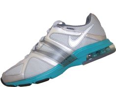 Womens Nike Air Max Trainer Excel Shield 469766-001 Silver/Turquoise