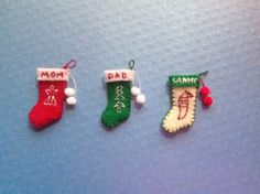 Dollhouse-Miniature-1-Personalized-Christmas-Stockings-1-12-Scale