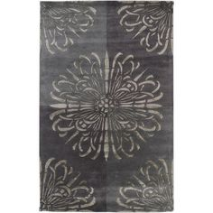 Essence Studio Collection New Zealand Wool Area Rug in Elephant and Charcoal Grey design by Surya