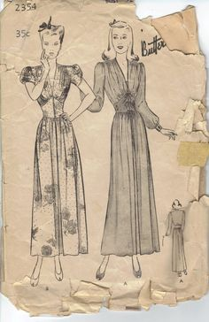 1940's Butterick Sewing Pattern 2354 Misses by AtomicRegeneration