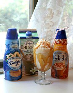Caramel Coconut Frappuccino w/ @InDelight Iced Coffee #InDelight #cBias