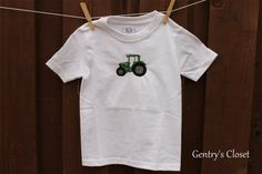 John Deere Tractor Tshirt or Onesie for Baby and by gentryscloset, $18.00. Tractor can be done in pink too!