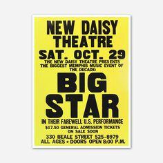 Big Star - New Daisy Theatre Poster