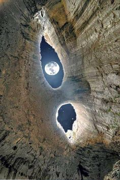 A look at the moon from Prohodna cave in Bulgaria