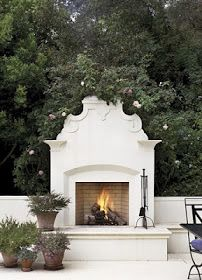 Made in heaven: Outdoor fireplace