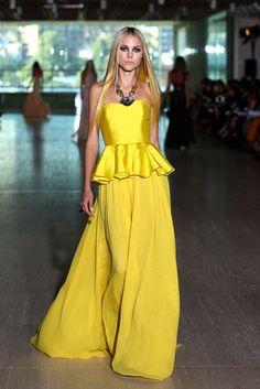 Lisa Ho MBFW 2012...yellow and a peplum fab