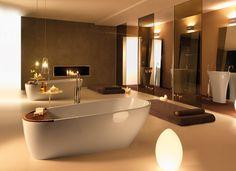 So stilvoll sieht eine freistehende Badewanne aus. Die Produktserie Aquatech von KERASAN ist ein absoluter Hingucker im Badezimmer!