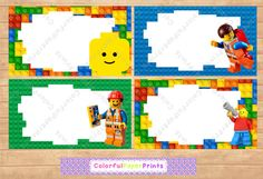 Lego Boy Favor Tags - Food Labels