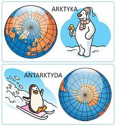 ARKTYKA i ANTARKTYDA - SuperKid Arctic Animals, Montessori Materials, Learning Environments, Preschool, Kids Rugs, Science, Education, Winter, Poli