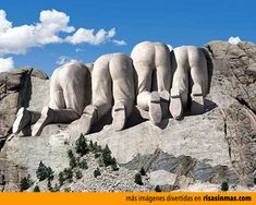 other side of Mount Rushmore