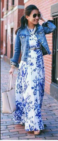 Outfit con maxivestido
