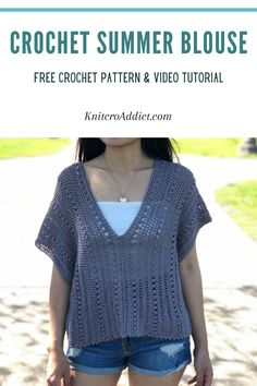 Easy Crochet Patterns, Free Crochet, Crochet Cape, Crochet Shirt, Shawl Patterns, Crochet Vests, Crochet Edgings, Crochet Motif, Dress Patterns