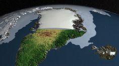 """DESCUBRIMIENTOS CIENTIFICOS (2 SEP 2013)            """"Científicos europeos y americanos hallan un cañón debajo de la capa de hielo de Groenlandia""""."""