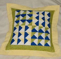 Patchwork Pillow Cover 36 Little Triangle by AStitchinTime72, $30.00