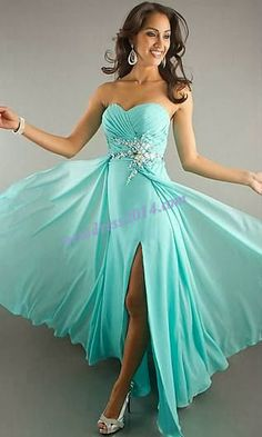 Sky Blue Floating Prom Dress