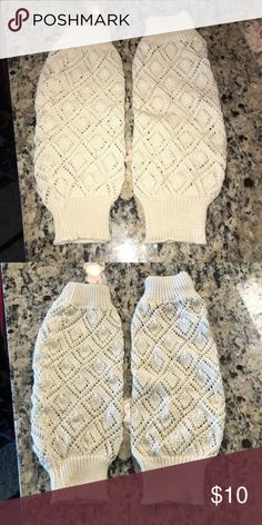 Knit Leg Warmers cream knit leg warmers, great condition.  no trades / offers welcome / no lowballs bundles — 20% off 2 or more items 🎀 Accessories Hosiery & Socks