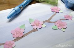 Cut out painted watercolor paper with your Silhouette Cameo or Portrait to make beautiful watercolor wall art!