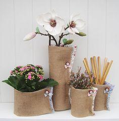 植木鉢のラッピング方法