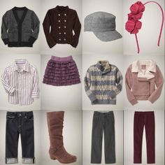 pinks and mauves, kids outfits only gapfall