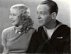 Ginger Rogers and Fred Astaire for Follow the Fleet, 1936.