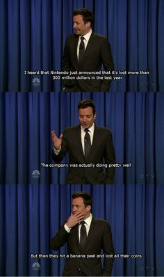 Jimmy Fallon on Nintendo…